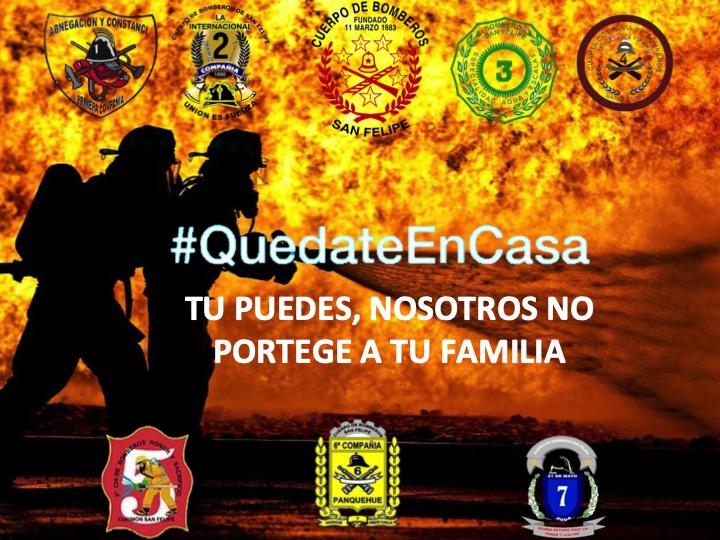 Cuerpo de Bomberos de San Felipe entrega protocolo COVID-19