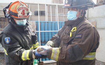 Bomberos San Felipe concurre a rescate animal, al cual responde personal 4ta compañía.
